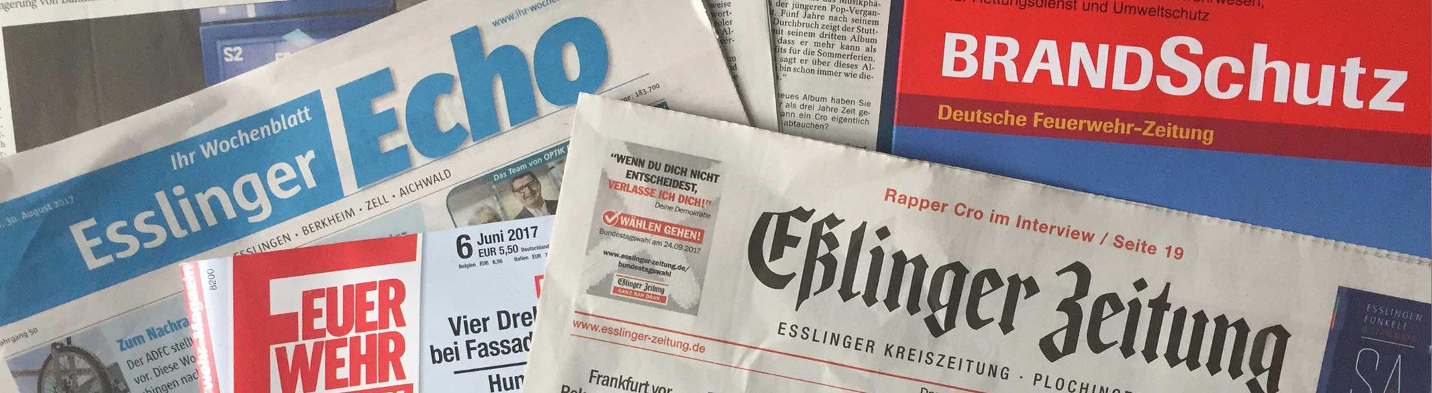 Headline Grafik: Berichte/ArtikelPresse