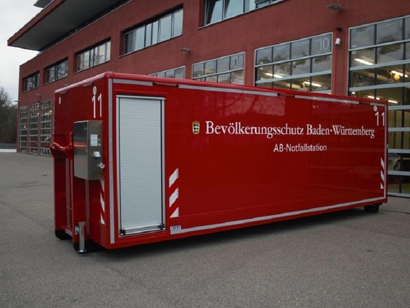 Abrollbehälter - Notfallstation Land Baden-Württemberg AB-Notfall