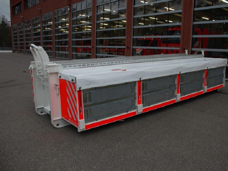 Abrollbehälter - Sandsack Transport AB-Sand 1